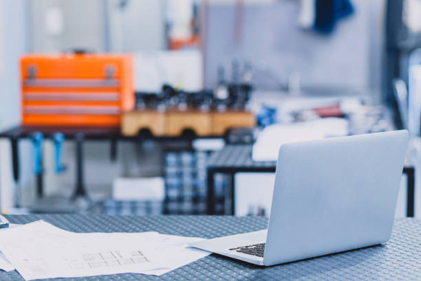 So this is what my office looks like Shot of an empty engineering workshop filled with tools and machinery distribution center stock pictures, royalty-free photos & images