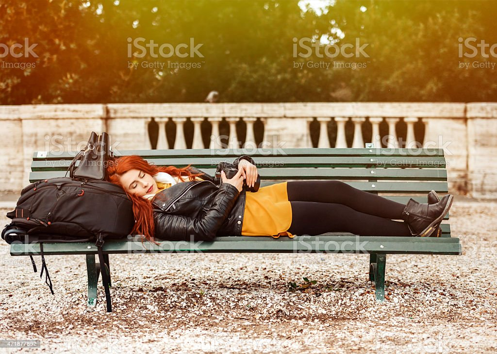 so tired woman stock photo