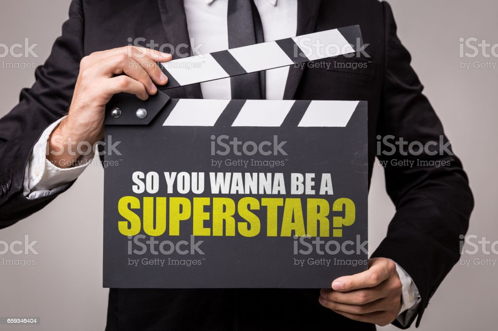 So You Wanna Be a Superstar? stock photo