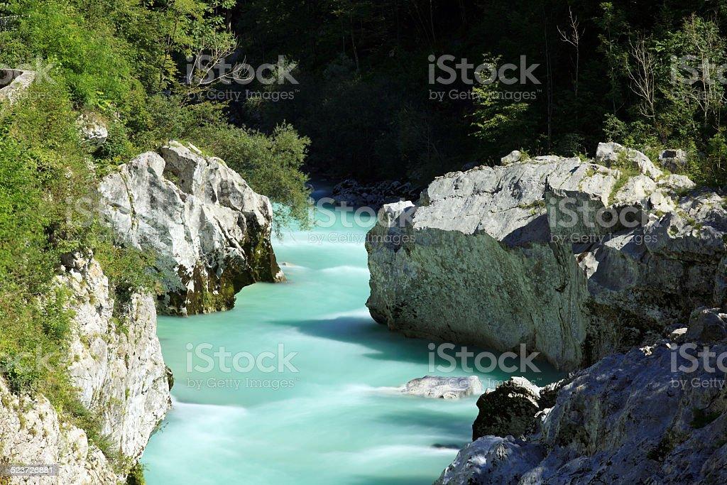 Soča river, Slovenia stock photo