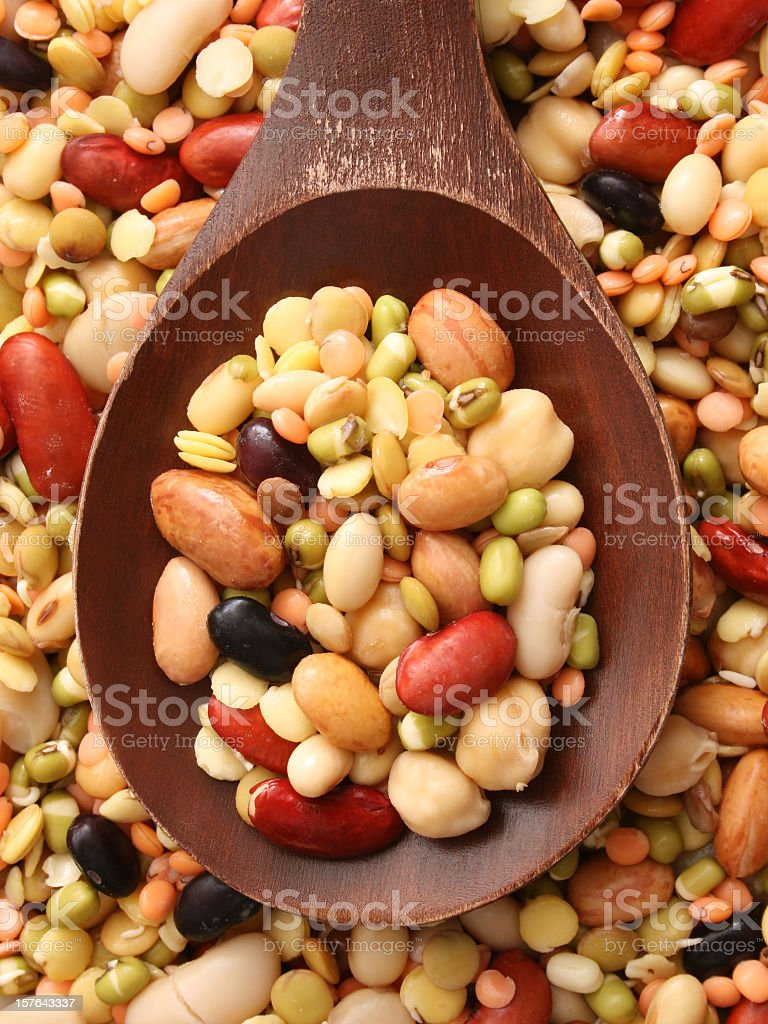 Soaked legumes stock photo