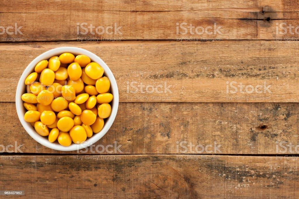 Soaked yellow beans - Zbiór zdjęć royalty-free (Bez ludzi)