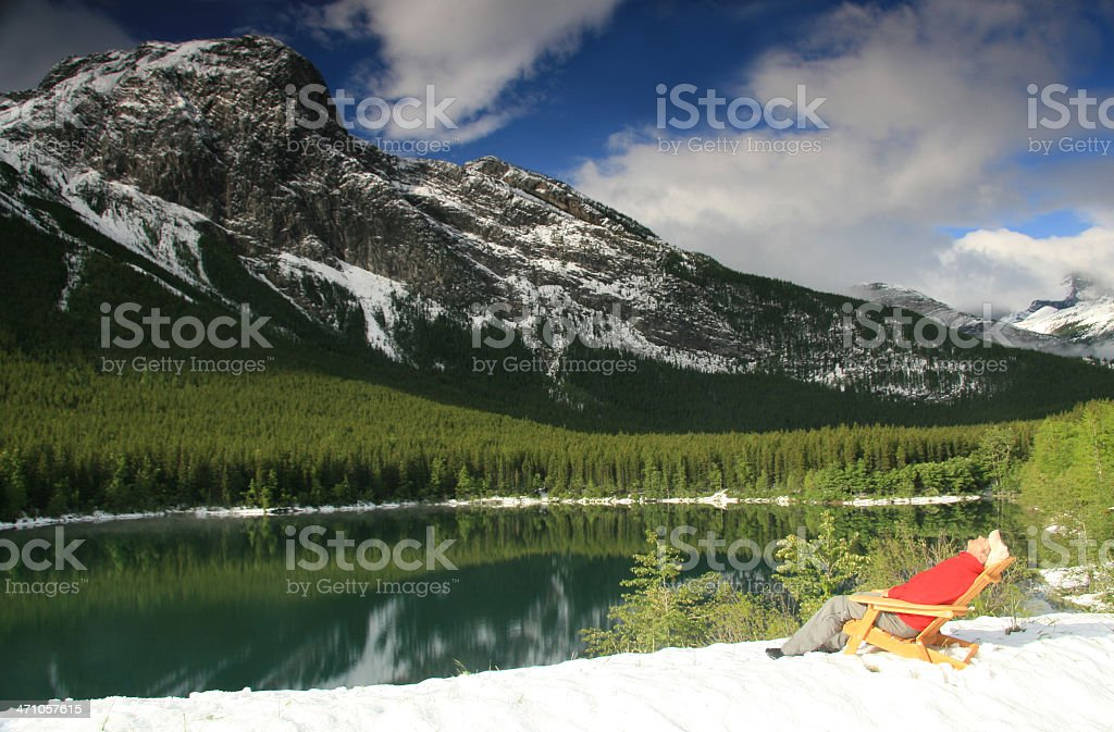 Soaking in the Mountains royalty-free stock photo