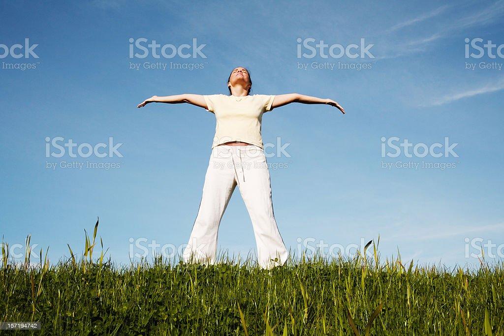 Soaking in The Sunshine royalty-free stock photo