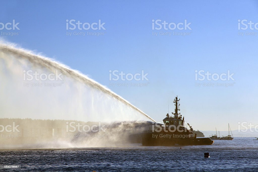 Soaking the Ocean stock photo