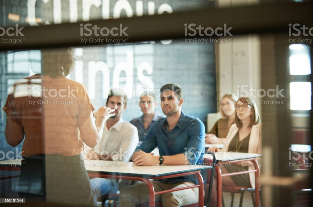Soaking up the information stock photo