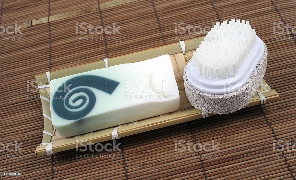 Soap and brush royalty-free stock photo