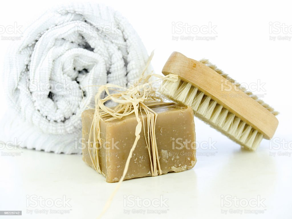 Soap and nail brush royalty-free stock photo