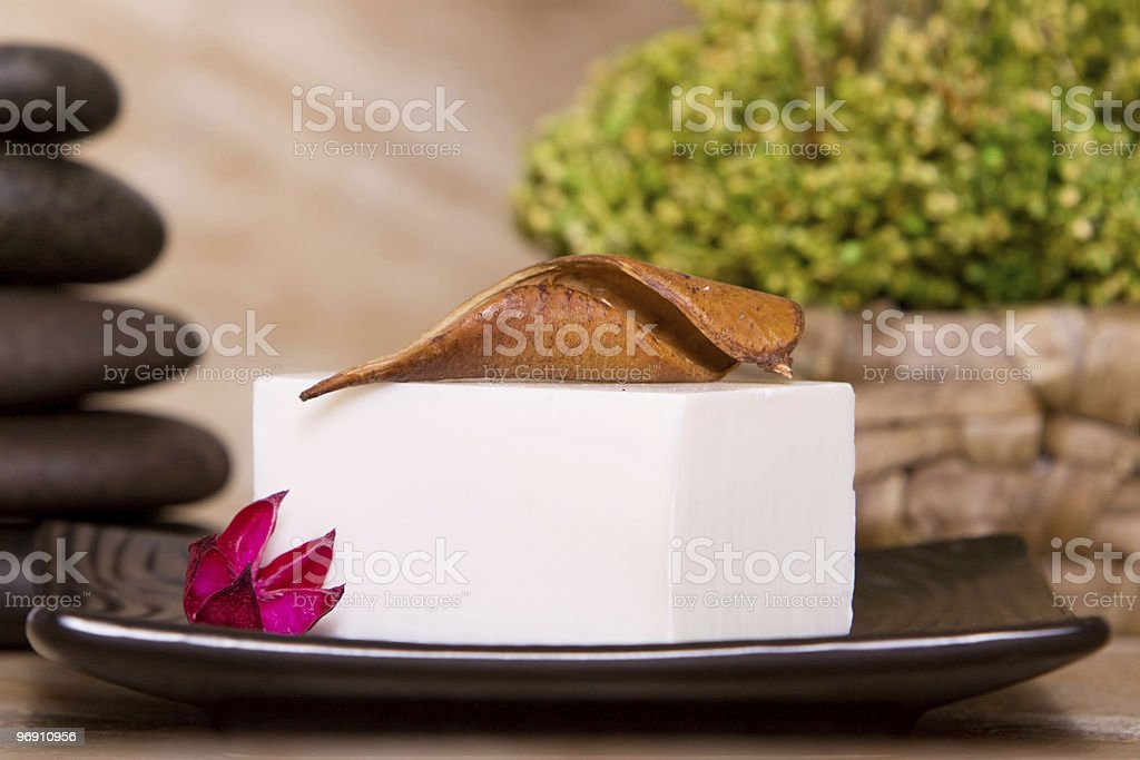 Soap bar for body care royalty-free stock photo
