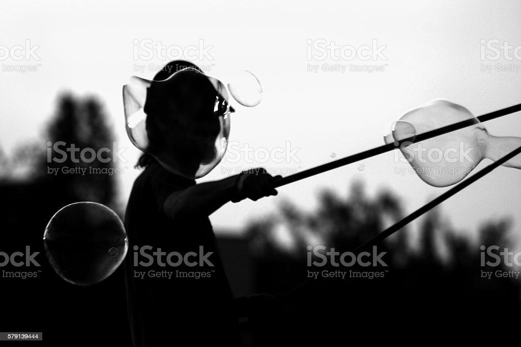 Soap bubble contre-jour – Foto