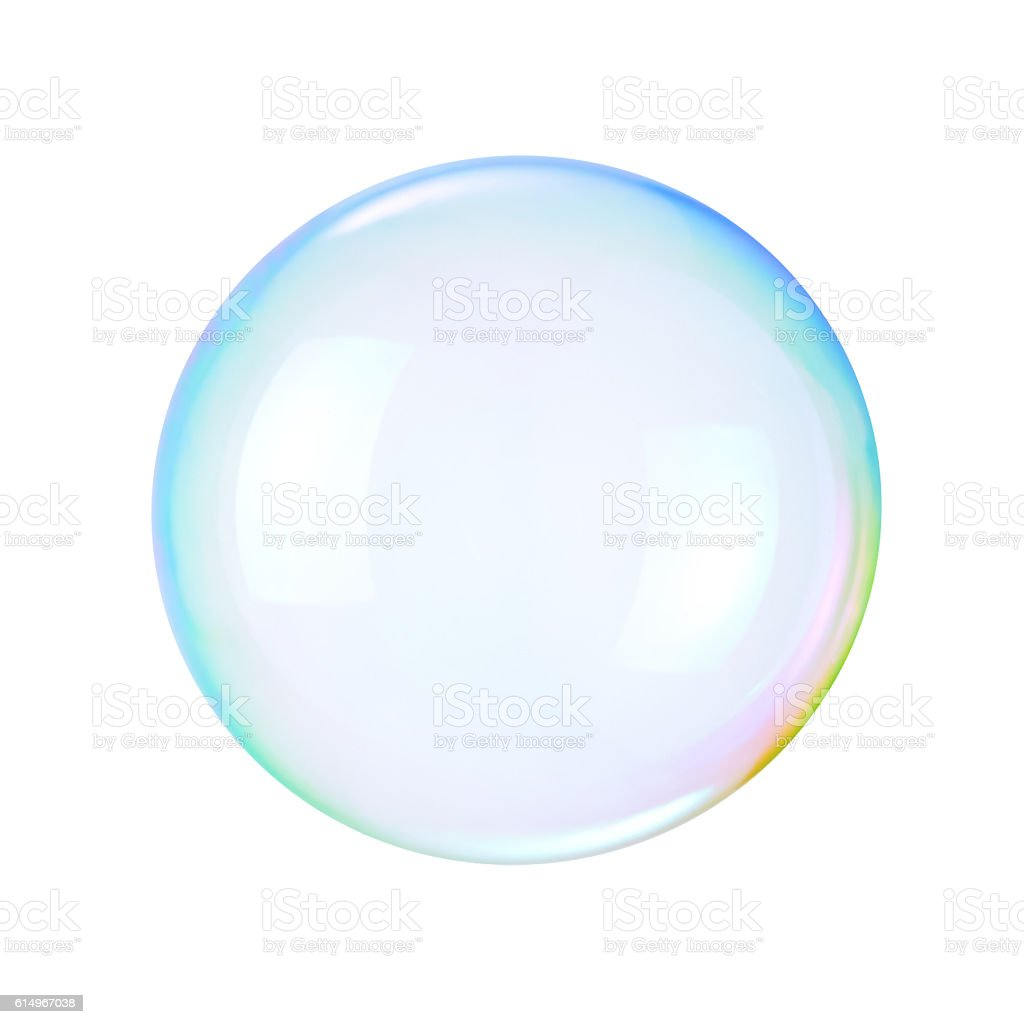 Soap bubble on a white background стоковое фото