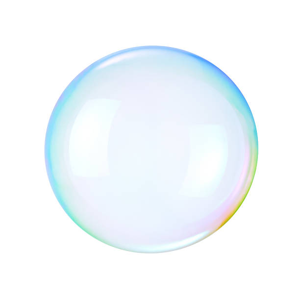 soap bubble on a white background - bulle photos et images de collection