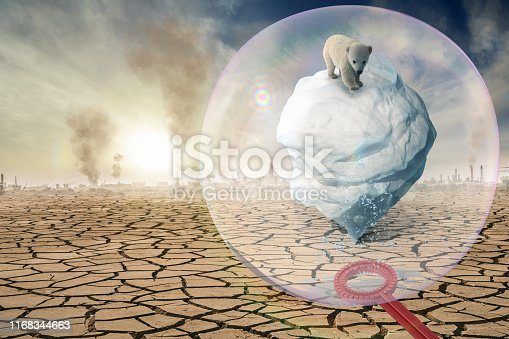 istock A soap bubble protects the Antarctic from climate change -3D-Illustration 1168344663