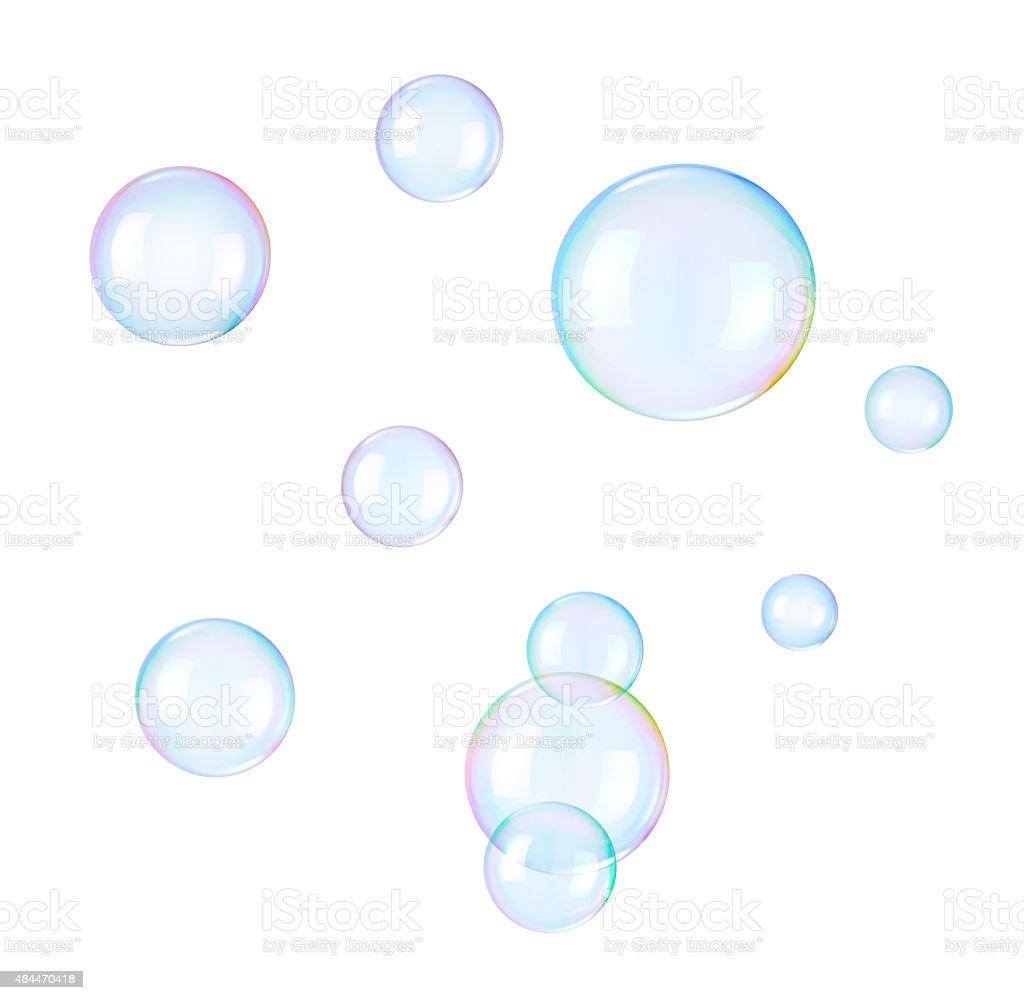 Soap bubbles auf weißem Hintergrund – Foto