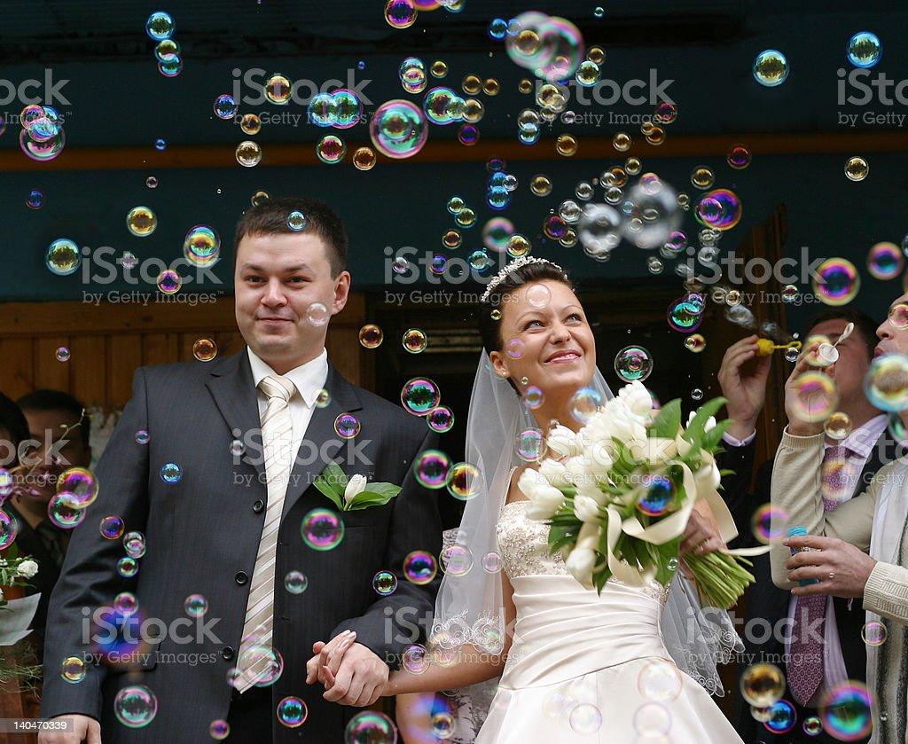 Soap bubbles royalty-free stock photo