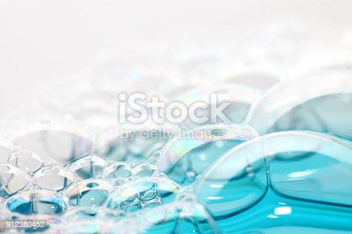 Soap bubbles , close-up.
