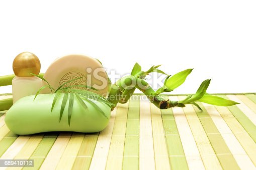 istock soap, cosmetics and bamboo 689410112