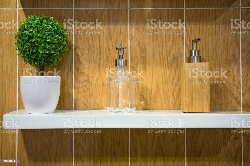Soap dispensers stock photo