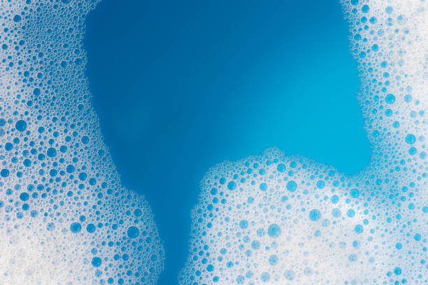 soap foam background texture - sapone foto e immagini stock