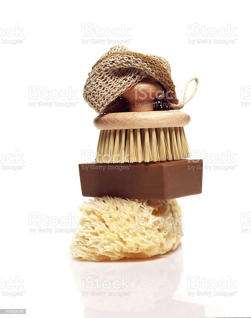 soap sponge and brush royalty-free stock photo