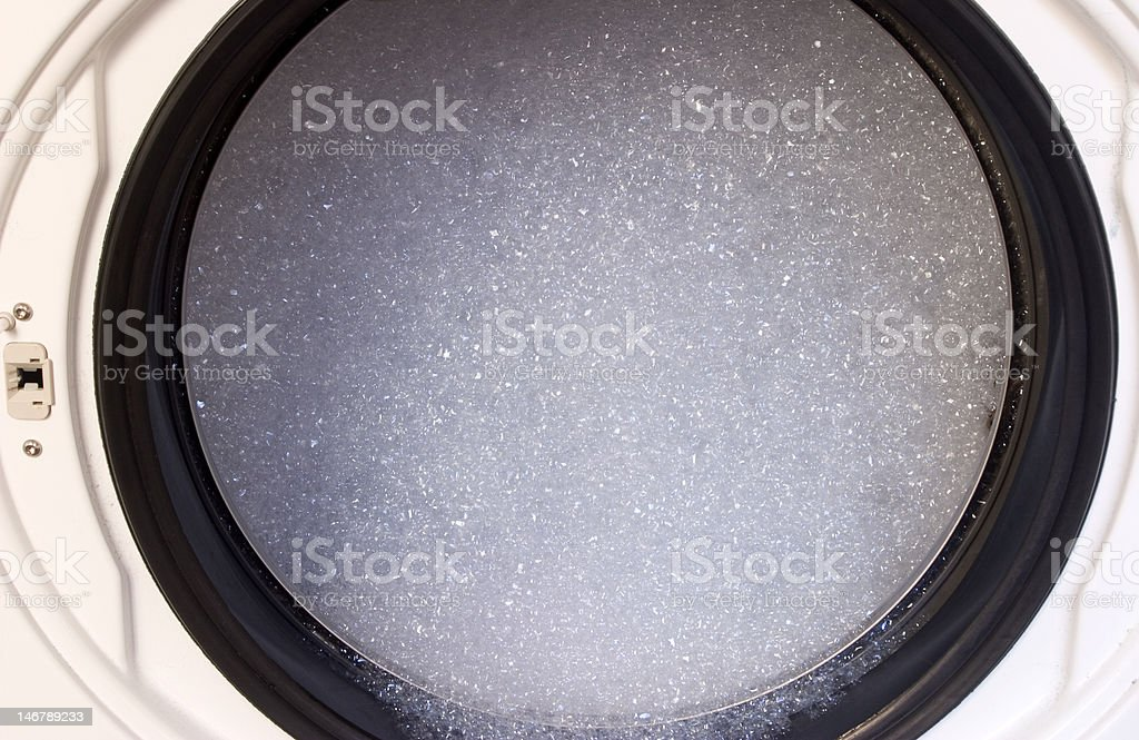 Soap Suds in Washing Machine royalty-free stock photo
