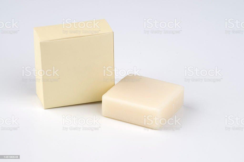 Soap with box hotel amenity royalty-free stock photo