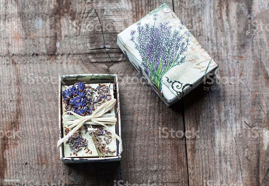 soap with lavender flower stock photo