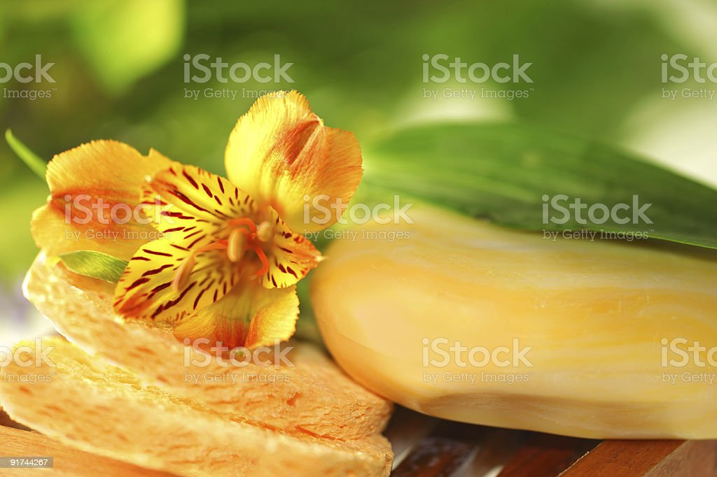 Soap with lily royalty-free stock photo