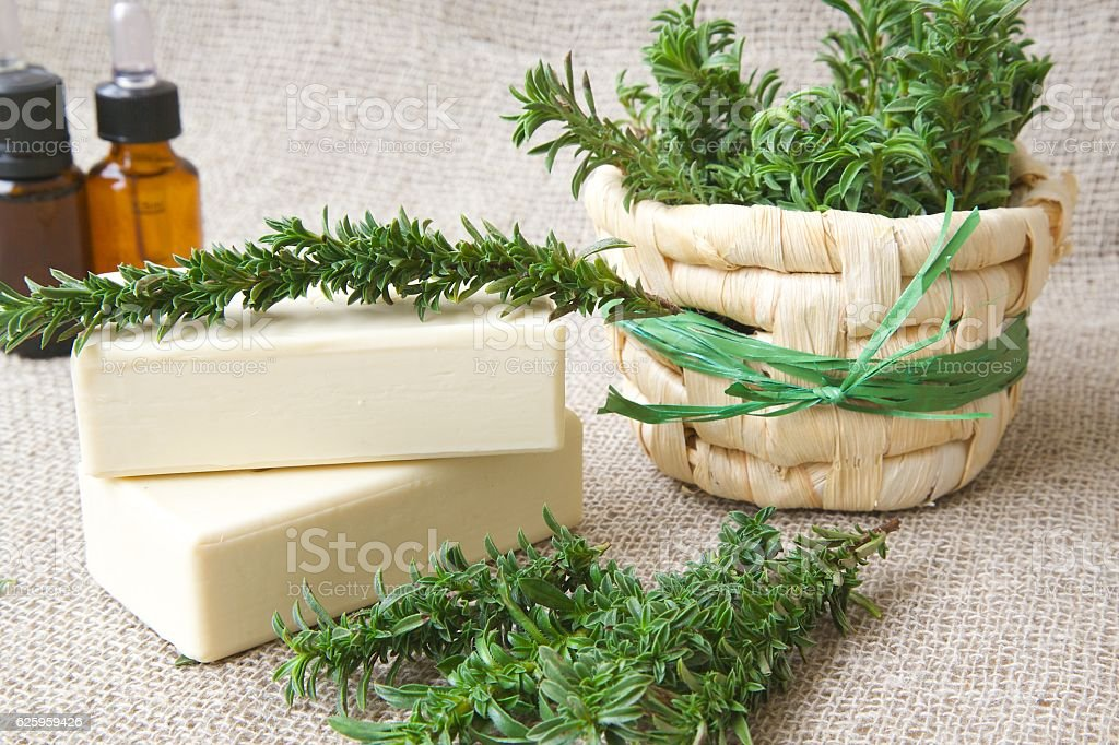 Soap with summer savory essential oil – Foto