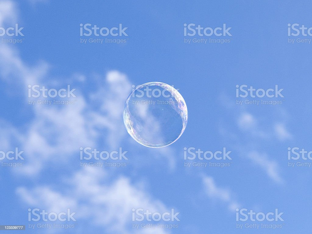 Soap-Bubble in the sky royalty-free stock photo