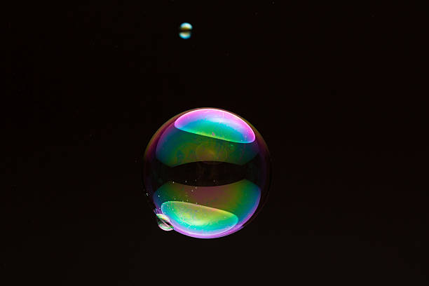 soapbubble - small and big - delude stock pictures, royalty-free photos & images