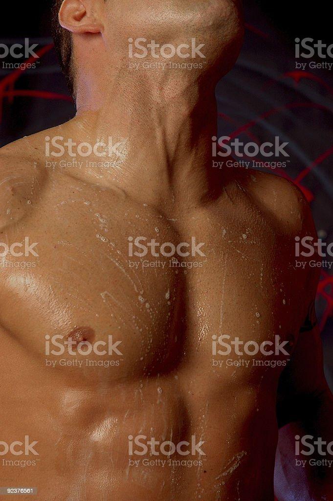 soapy male torso royalty-free stock photo