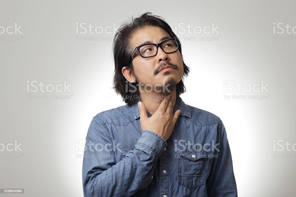 Soar Throat stock photo