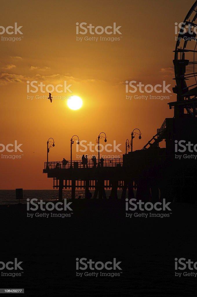 Soaring Sunset royalty-free stock photo