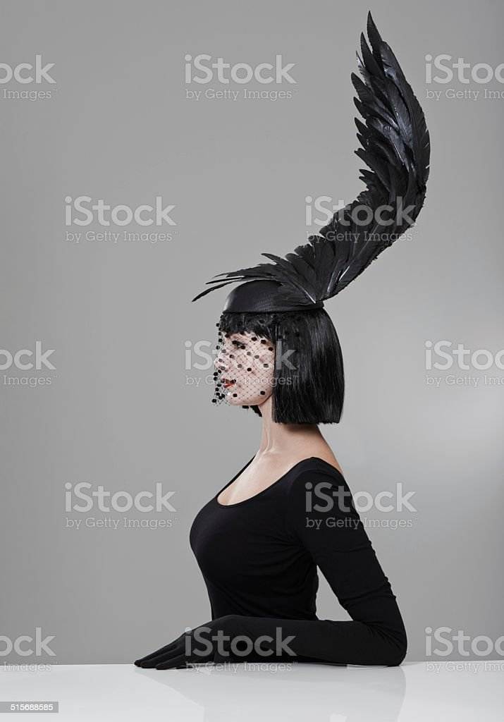 Soaring to new heights in fashion stock photo