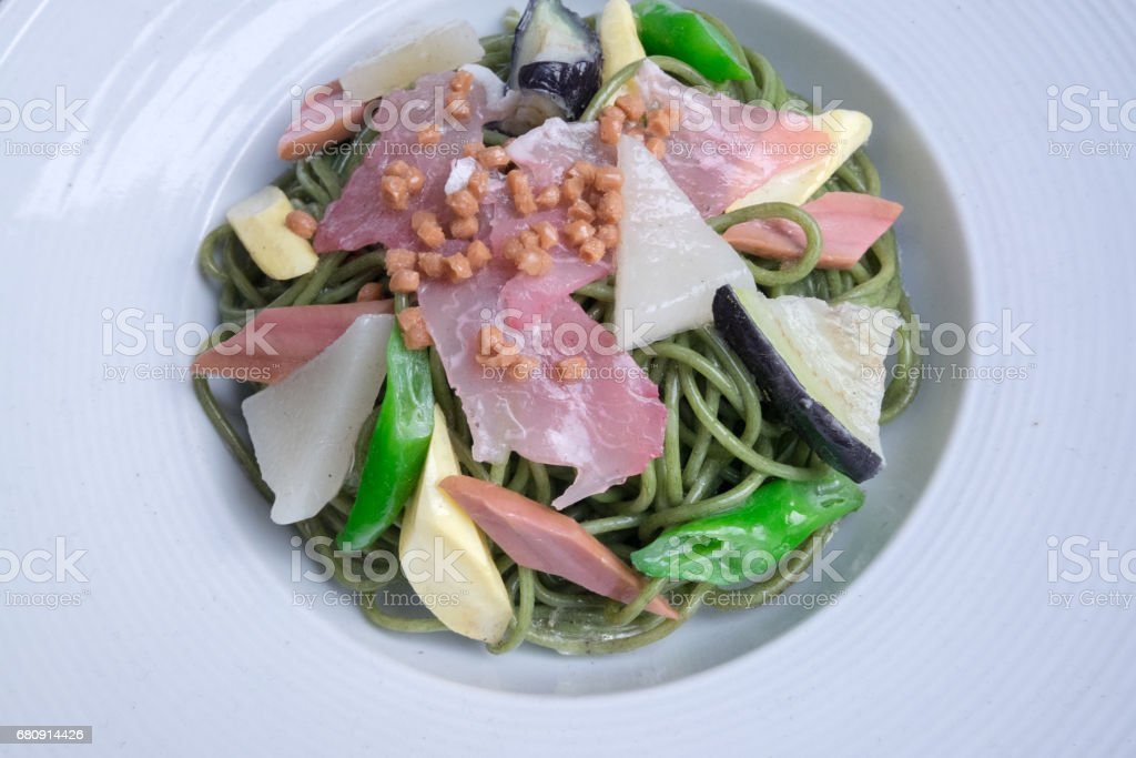 soba noodles dish royalty-free stock photo