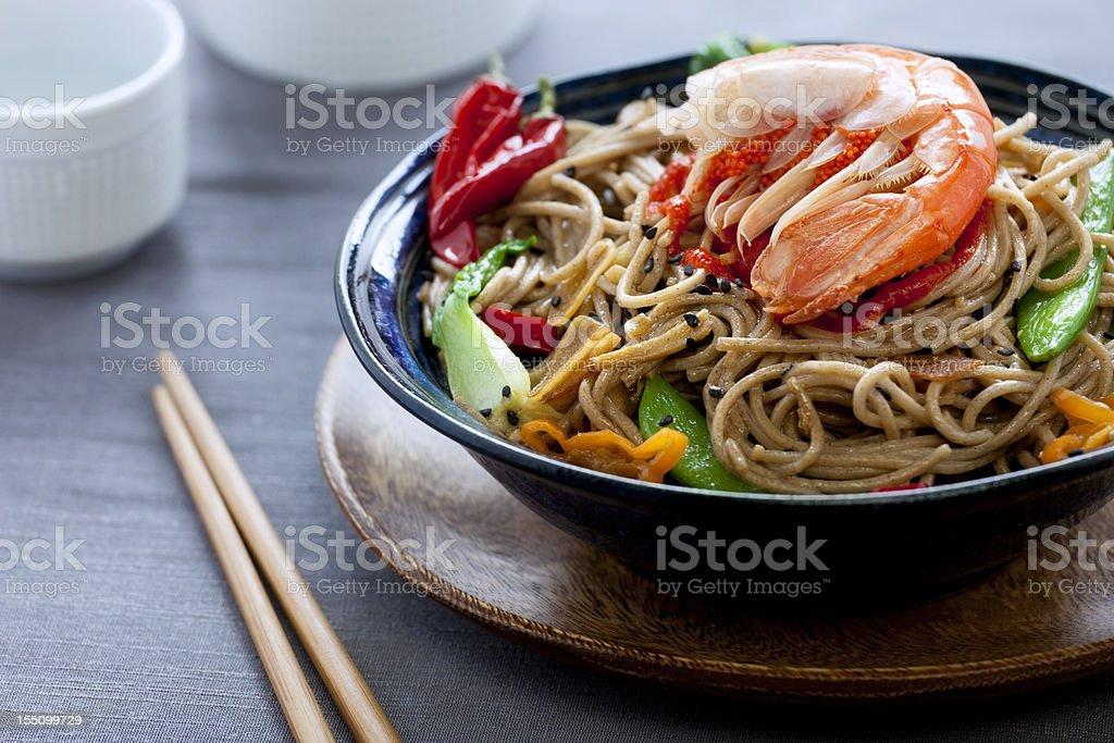 Soba Noodles Stir Fry royalty-free stock photo