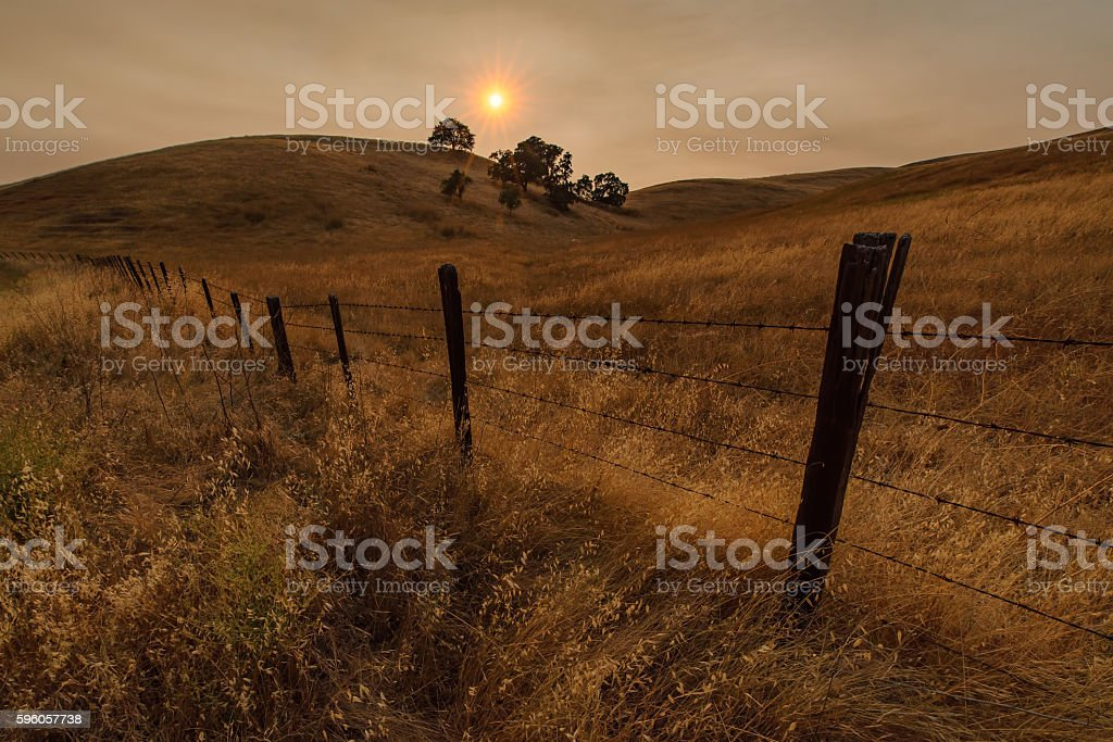Soberanes Fire Sunset in California royalty-free stock photo