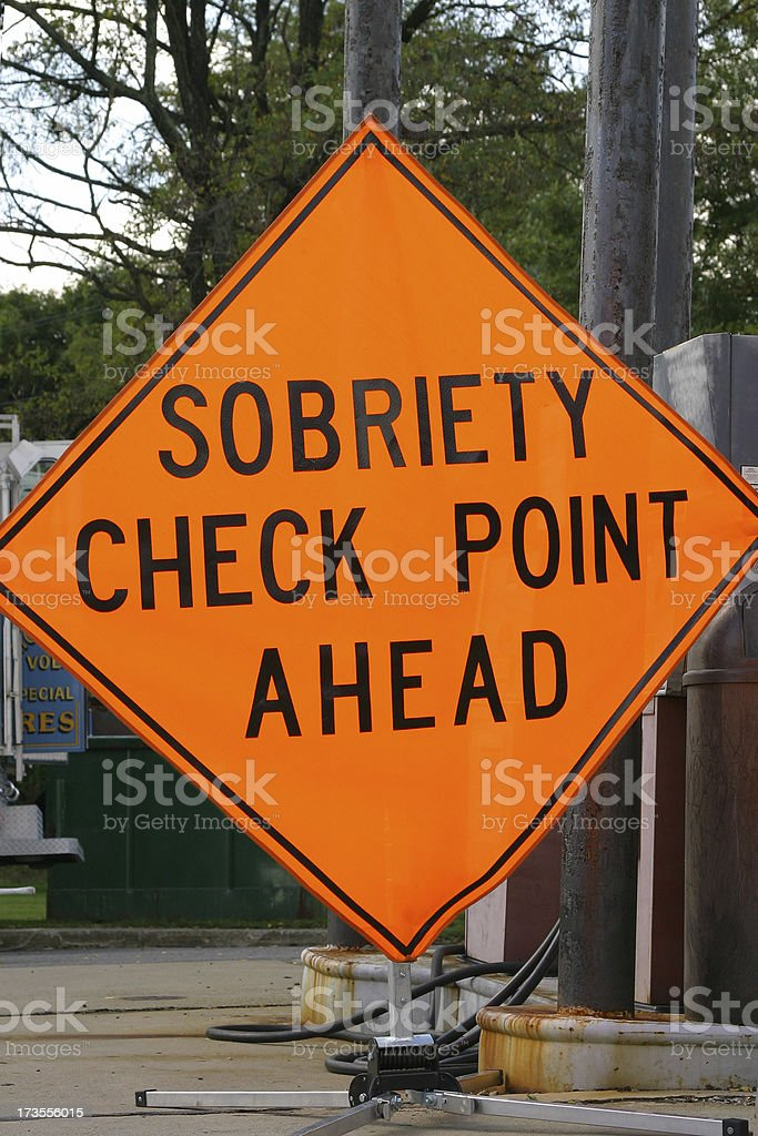 Sobriety Check Point royalty-free stock photo