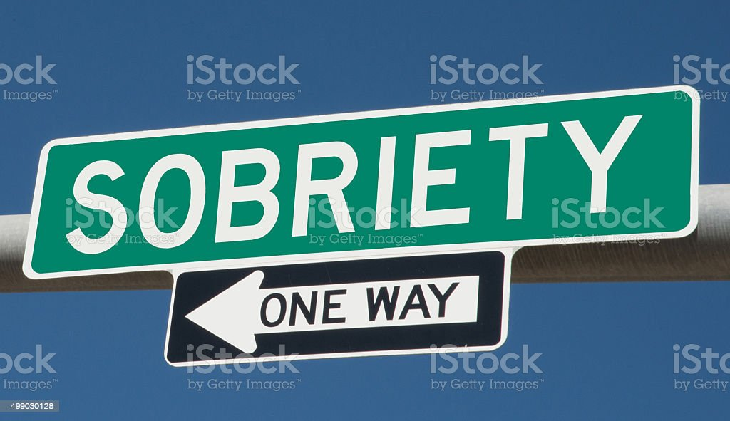 Sobriety highway sign stock photo