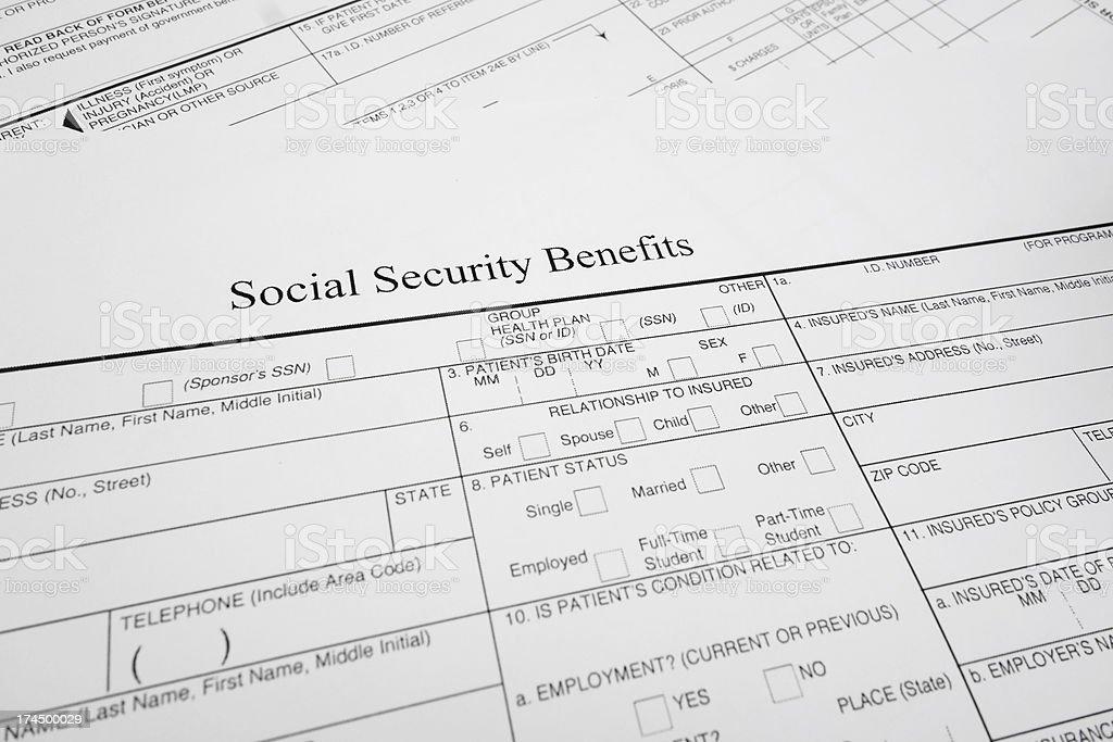 Soc Sec benefits stock photo