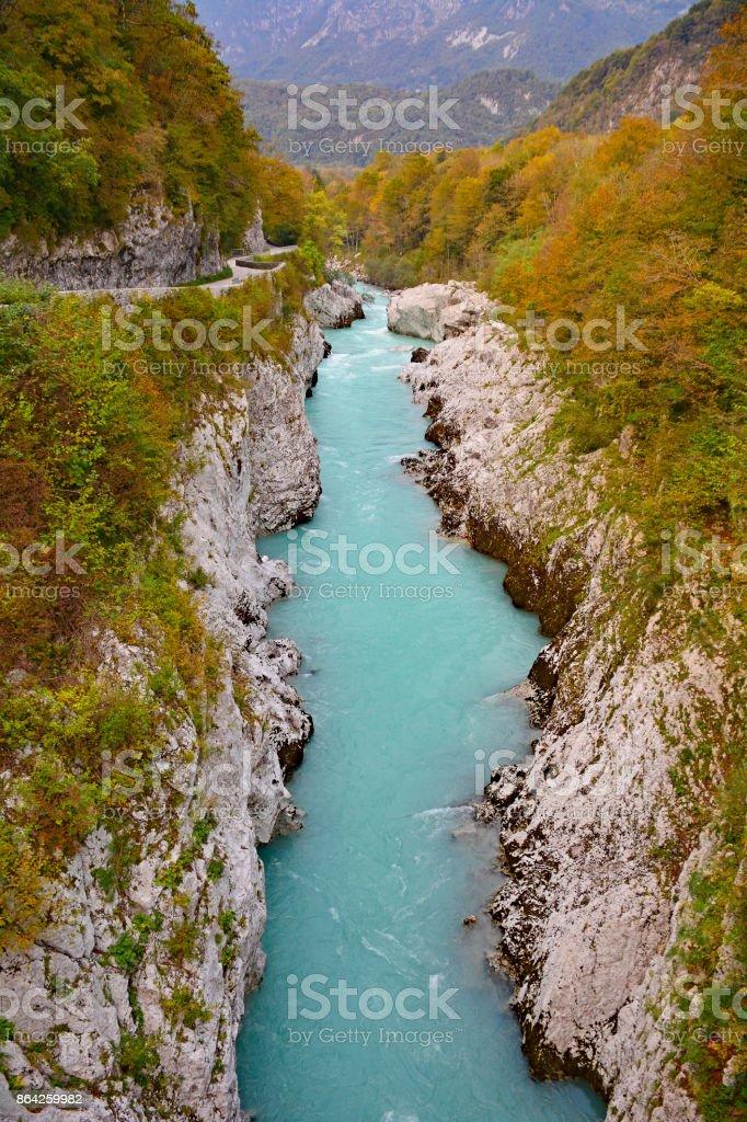 Soca River Near Kobarid royalty-free stock photo