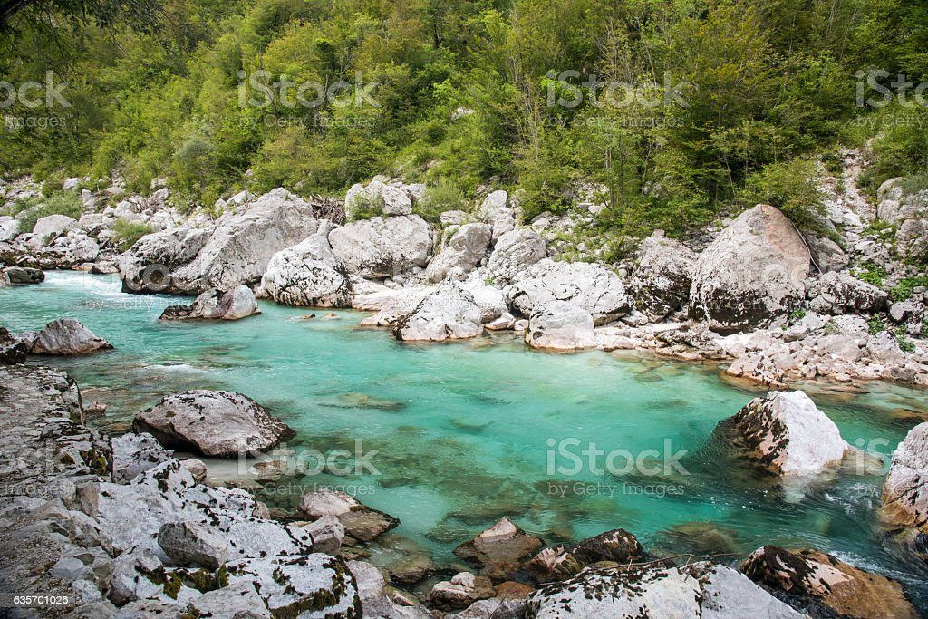 Soca river royalty-free stock photo
