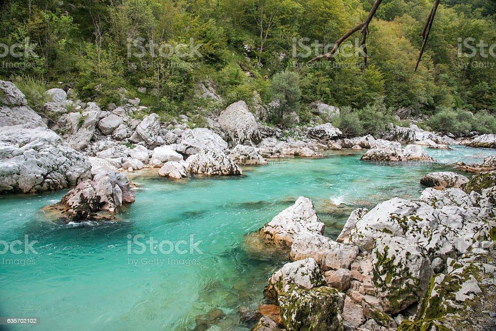 Soca river royalty-free stock photo