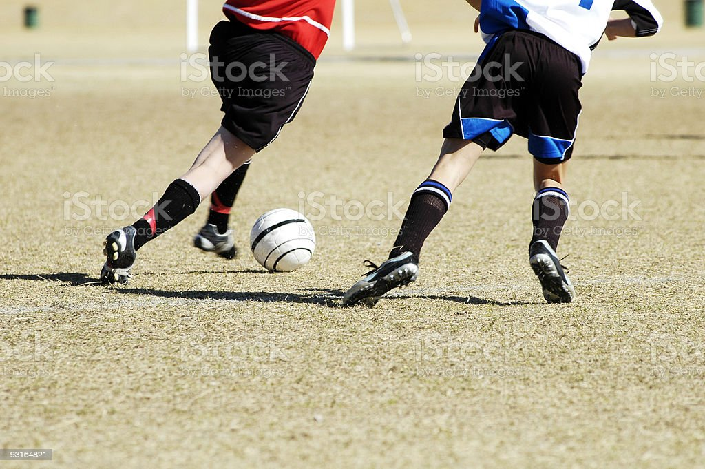 Soccer action 10 royalty-free stock photo