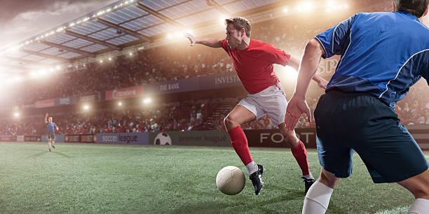 Acción de fútbol - foto de stock