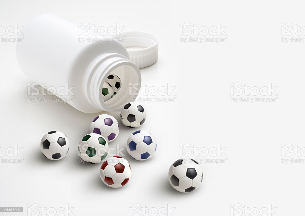Soccer addiction royalty-free stock photo
