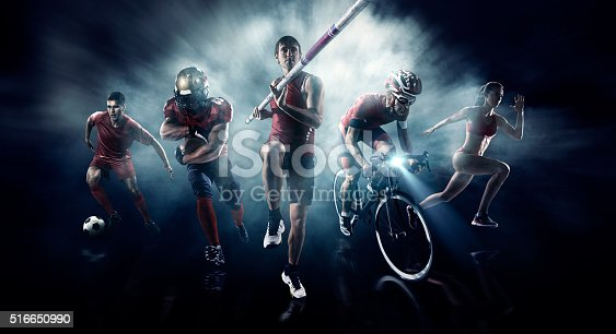 istock Soccer, American football, Pole vaulting, Cycle, Athletics 516650990