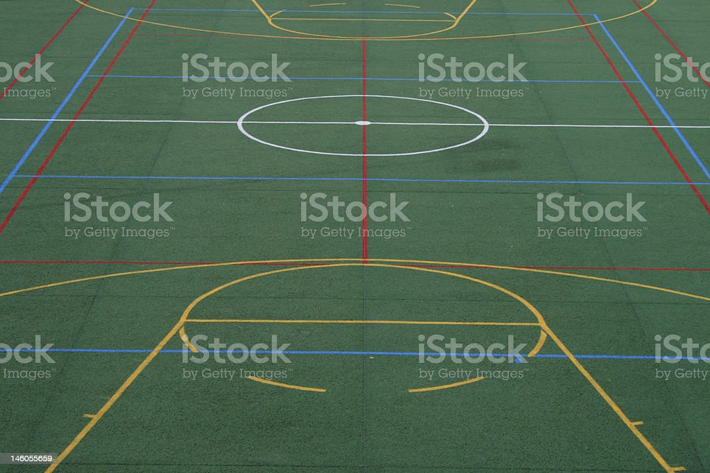 soccer and basketball grounds royalty-free stock photo