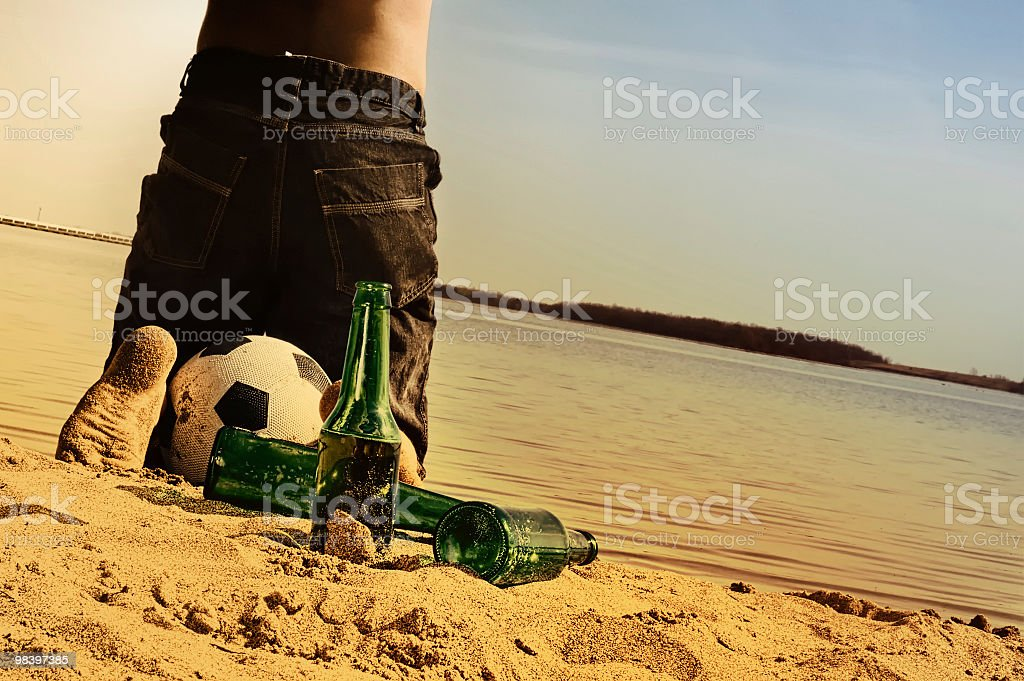 soccer and beer royalty-free stock photo